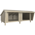 PLUS shelter dobbelt 291x170x379 cm
