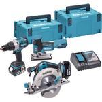 Makita DLX3085J Kombo-kit LXT med 3 maskiner og 2x 5,0 Ah batterier