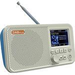 Transportabel DAB Radio & Bluetooth-højtaler C10 - Hvid / Blå