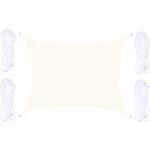 Solsejl 4 x 4 m -Hvidt