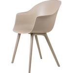 Gubi Bat Dining Chair, new beige - plastik