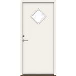 Swedoor hvid facadedør P-900 948x2115x115mm højre indadg. NCS 0502-Y glat med rude