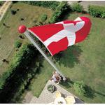 DANO MAST Flagstang 8 m med Vippebeslag og tilbehør - inkl. montering