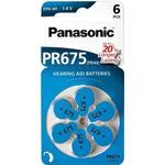Panasonic PR675 høreapparat batterier - 6 stk.