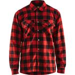 Blåklæder foret skovmandsskjorte - Rød / Sort - 3225 Large