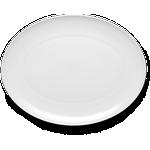 Lyngby Porcelain - Fad - Rhombe Ovalt serveringsfad 42x32 cm - Hvid