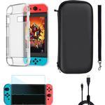 Nintendo Switch tilbehørskit - 4 dele - Sort