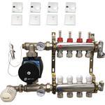 Gulvvarme 6 kredse med SAS trådløs styring til fjernvarme