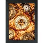 Snaprammer, Crown Alu ramme i 33 mm profil, sort,70x100 plak