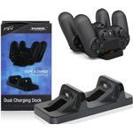 DOBE - Dual Oplader dock til PS4 / Playstation 4 controller