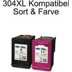 HP kompatibel 304 Xl Sort og Farve duo pack blækpatron 304XL