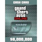 Gta 5 pc PC spil GTA Grand Theft Auto V Online CashCard Megalodon (8.000.000 $)