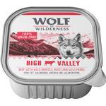 24x300g Adult High Valley Okse Wolf of Wilderness Hundefoder