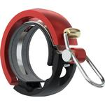 Knog Oi Luxe Bicycle Bell - Black / Red - Large,...