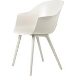 Gubi Bat Dining Chair, alabast hvid - plastik