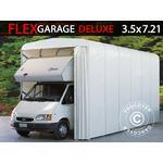 Foldetunnelgarage (Campingvogn), 3,5x7,21x3,9m, Hvid
