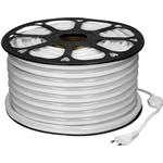 ECD Germany Neon LED Strip 20m - SMD 2835 - 120 LED / m - 9W / m - 230V - neutral hvid 4500K - uden lyspunkter - fleksibel - vandtæt IP68 - LED strip