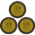 Molding clay american crew Hårpleje American Crew - 3x Molding Clay Voks 85 gr.