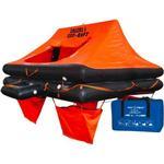 Redningsflåde 4 Bådudstyr Redningsflåde ISO RAFT 4 pers. taske