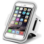 "Smartphone løbearmbånd - 6.5"" - Hvid"