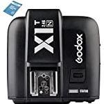 Godox X1T N Selens iTTL 2.4 GHz Wireless Hot Shoe Flash Trigger Transmitter with HSS 32 Channels for Nikon DSLR Camera Black