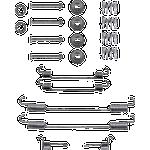 Bosch 323 Autoreservedele BOSCH Tilbehørssæt, bremsebakker SUZUKI 1 987 475 323