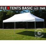 Foldetelt FleXtents Easy up pavillon Basic v.3, 3x6m Hvid