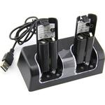 Duo Charging Station for Wii and Wii U Controller Black