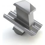 Cembrit taghætte mørkegrå B5 15-45gr m/isorør + overgang 47030133 150x150mm