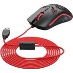 Glorious Ascended Cord - Musekabel - USB (han) - karmosinrød - for Glorious Model D, Model O, Model O Minus
