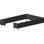 Juliana stålfundament sort til Premium mur 13m² drivhus F09824