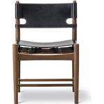 Den spanske spisebordsstol - Røget eg/Sort læder