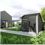 Plus cykelskur med dobbeltdør ubehandlet 4,6 m2 248 x 229 x 250 cm