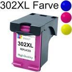 Hp 302XL Farve blækpatron 18ml kompatibel 302 XL F6U67AE