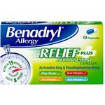 Benadryl Plus Capsules (12)