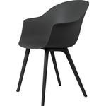 Gubi Bat Dining Chair, sort - plastik