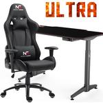 Nordic Gaming Stol + Gaming Bord - Ultra Elevation Bundle