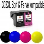 HP kompatibel Combi Pack 302XL sort og farve