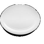 Lyngby Porcelain - Fad - Rhombe Ovalt serveringsfad 35x26,5 cm - Hvid