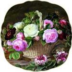 Engelske roser tallerken