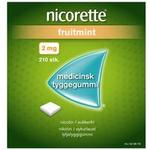 Nicorette Tyggegummi (Fruitmint), 2 mg - 210 stk