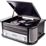 Retro stereoanlæg m/DAB+ (Pladespiller/CD) Sort - Denver