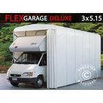 Foldetunnelgarage (Campingvogn), 3x5,15x3,6m, Hvid