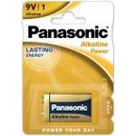 9V Alkaline POWER Panasonic batteri 1stk.