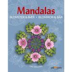 Mandalas Malebog - Blomster & Bær - OneSize - Mandalas Malebog