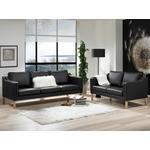 Clausholm sofasæt 3+2 pers. (Sevilla 14 mørkebrun, mørkbejdset)