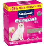 VITAKRAFT Kattegrus Compact Ultra klumpende 8 kg + 25% / 10 l