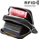 Sort Tegnebog med RFID beskyttelse - Mange rum