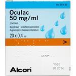 Oculac 50 mg/ml 8 ml Øjendråber, opløsning, enkeltdosisbeholder