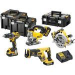 Værktøjssæt DeWalt DCK421P3T; (DCD791+DCS570+DCS331+DCS367); 18 V; 3x5,0 Ah batt.